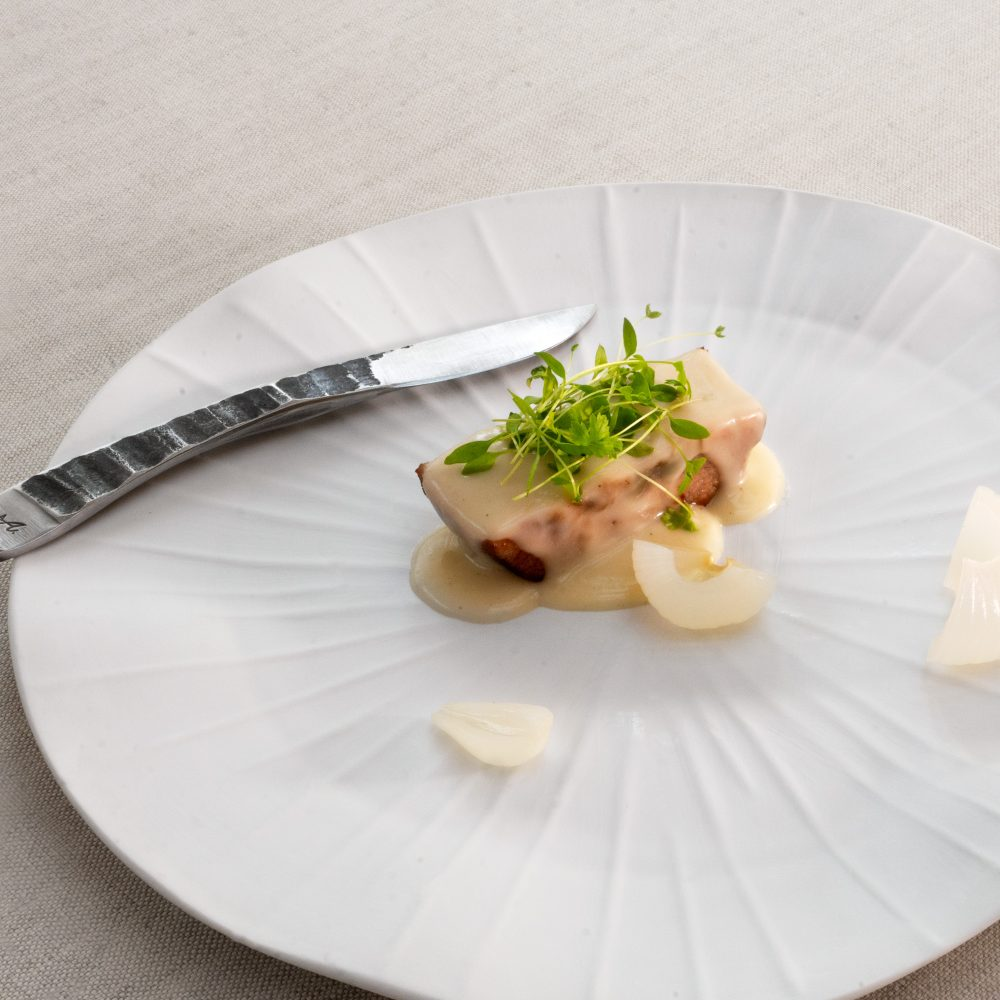 """""""bianco di vitello"""" ristorante """"Agli Amici"""" chef Emanuele Scarello 2 michelin stars"""